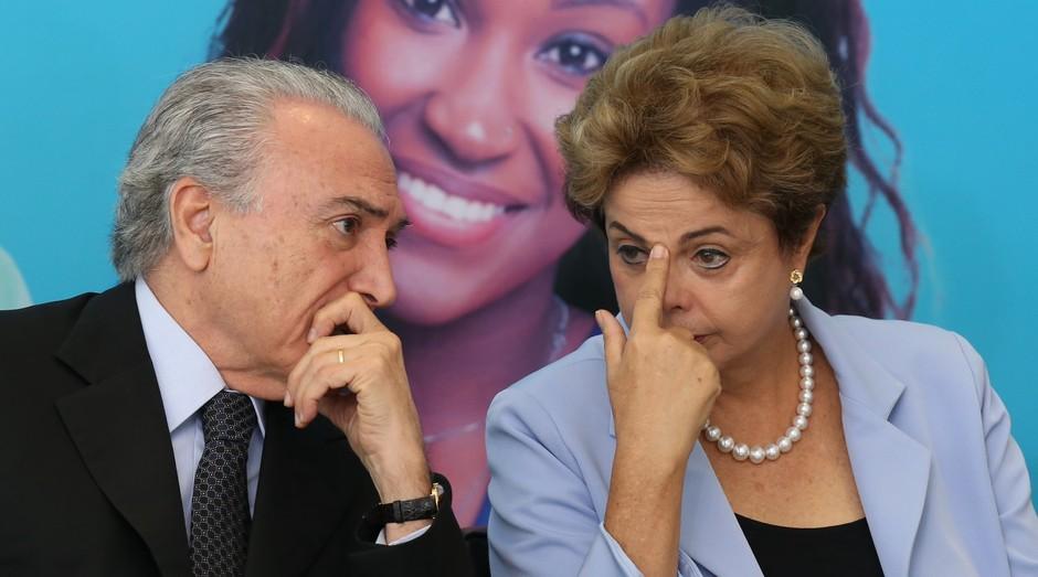Dilma Rousseff e Michel Temer (Foto: Reprodução/Agência Brasil)