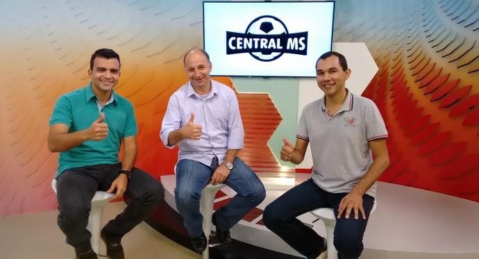 Central MS, Hélder Rafael, Átilla Eugênio e Antônio Marcos (Foto: Divulgação/TV Morena)