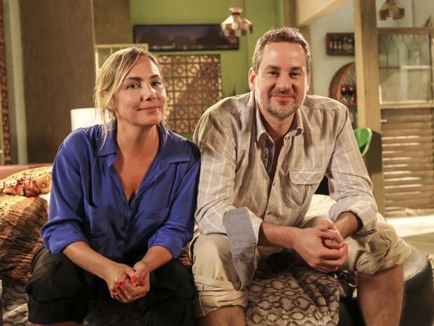 Dan Stulbach vive Paulo Hélio, marido de Analu (Foto: TV Globo/Paulo Belote)