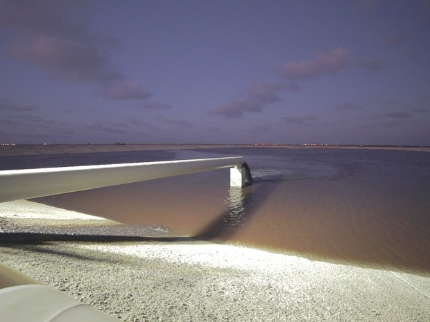 Polpa de minério bombeada chegou por meio do mineroduto de 529 km (Foto: Divulgação/AngloAmerican)