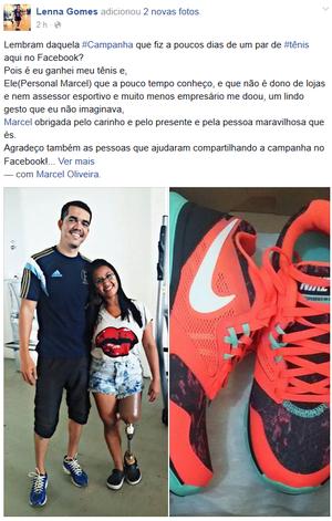 Lenna Gomes; campanha pela rede; Amapá (Foto: Reprodução/Facebook)