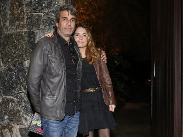 Cláudia Abreu e o marido,  José Henrique Fonseca, em festa na Zona Sul do Rio (Foto: Felipe Assumpção/ Ag. News)