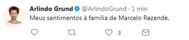 Arlindo Grund lamenta morte de Marcelo Rezende (Foto: Reprodução/Instagram)