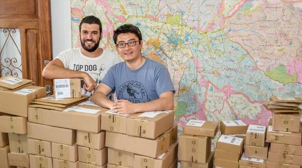 Startup ajuda vendedores a embalar e enviar mercadorias em São Paulo