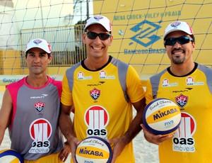 Dupla de vôlei de praia do Esporte Clube Vitória (Foto: Divulgação/EC Vitória)