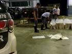 Polícia apreende uma tonelada de maconha em fundo falso de caminhão