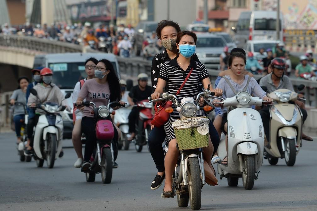 Hanói pode chegar a 6 milhões de motos nos próximos anos (Foto: HOANG DINH Nam / AFP)