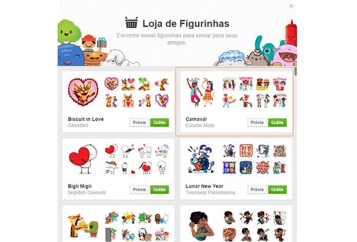 Facebook adiciona stickers especiais para o Carnaval 2015 (Foto: Reprodução/Barbara Mannara)