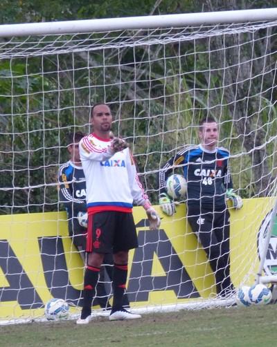 Alecsandro, goleiro, treino, Flamengo, Ninho do Urubu (Foto: Richard Souza/GloboEsporte.com)