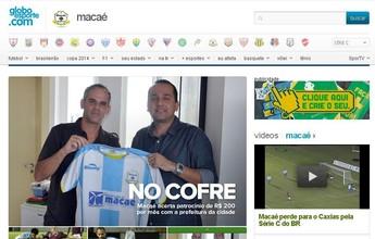 Globoesporte.com inaugura página especial só com notícias do Macaé