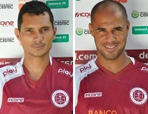 Léo Oliveira e Hércules, meia e atacante da Desportiva Ferroviária (Foto: Divulgação/Desportiva Ferroviária)