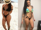 Monique Amin comemora novas medidas: 'Quase 7 kg a menos'