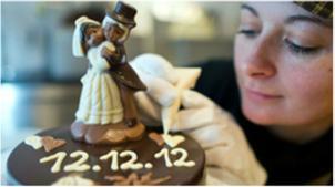 Muitos casais optaram pela data 12/12/12 para oficializar suas uniões na Grã-Bretanha (Foto: Getty)