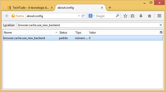 Localizando configuração a ser modificada (Foto: Reprodução/Helito Bijora)