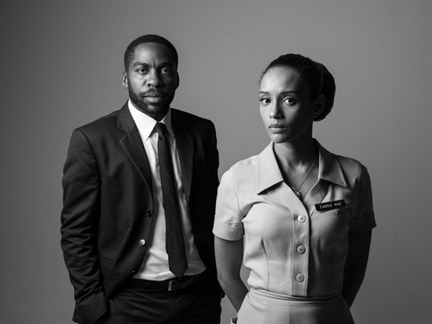 Lázaro Ramos e Taís Araújo interpretam Martin Luther King e uma camareira na peça 'O Topo da Montanha' (Foto: Divulgação/Jorge Bispo)