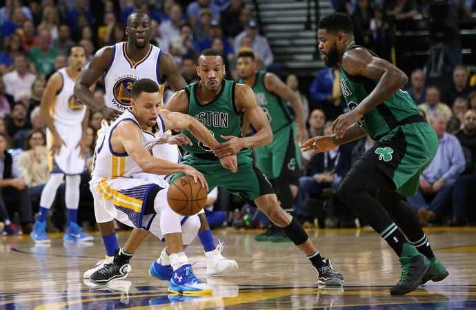 Stephen Curry Warriors x Celtics NBA (Foto: Getty)
