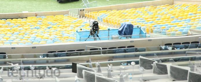 Posicionamento de uma das câmeras em 4K (Foto: TechTudo/ Taysa Coelho)