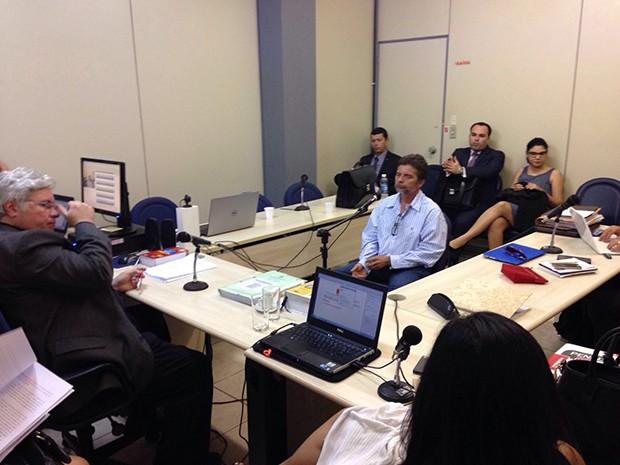 Gutson Reinaldo prestou depoimento na manhã desta segunda-feira (22) (Foto: Fred Carvalho/ G1)