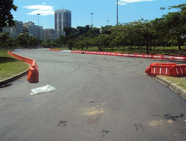 ferrari atropelamento aterro (Foto: Felipe Siqueira)