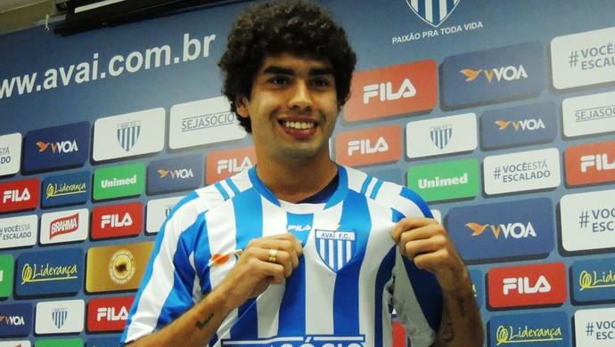 Bruno Mendes Avaí apresentação (Foto: Diego Madruga)