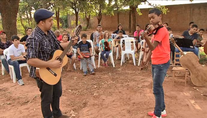 Orquestra social (Foto: TV Morena)