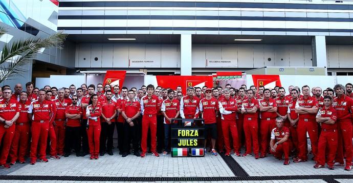 Ferrari homenagem a Jules Bianchi GP Russia (Foto: Getty Images)