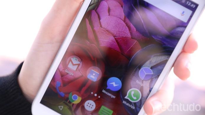 Tela do Moto G 3 tem resolução HD, a mesma do Moto G 2 (Foto: Luana Marfim/TechTudo)