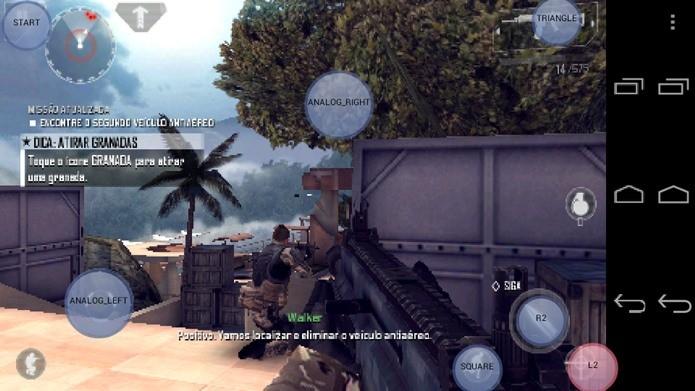 Exemplo de configuração para o jogo Modern Combat 4 (Foto: Reprodução / Dario Coutinho).