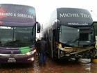 Ônibus de Fernando e Sorocaba resgata equipe de Teló após acidente