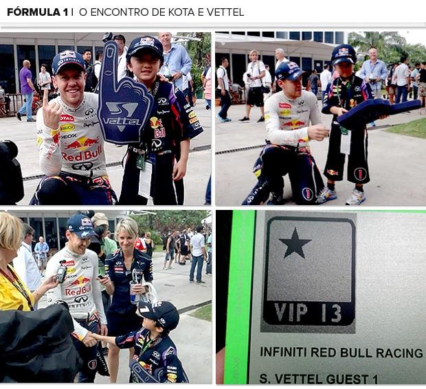 Mosaico Kotta Vettel encontro (Foto: Editoria de Arte)
