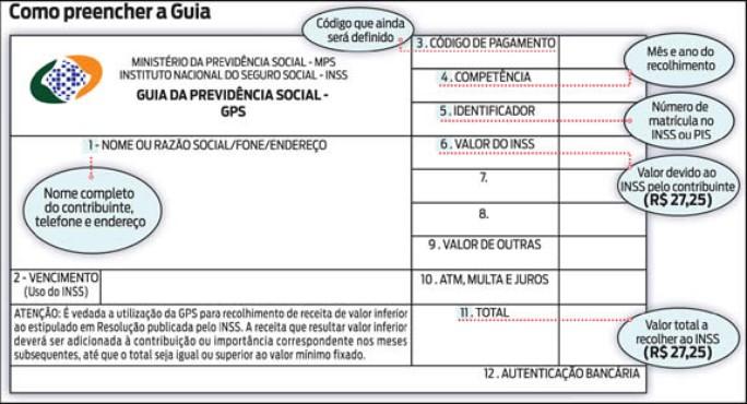 screenshot de Guia da Previdência Social (GPS)
