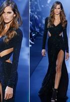 Izabel Goulart é a estrela do desfile de Alexandre Vauthier, que estreia na semana de alta-costura em Paris