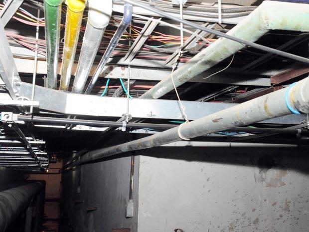 Tubulação danificada após furto no Hospital Carlos Macieira, em São Luís (Foto: Divulgação)