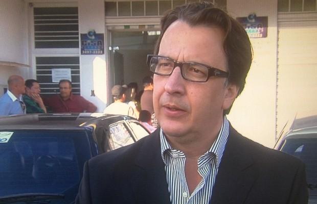 Alexandre Magalhães foi oficializado candidato a governador de Goiás pelo PSDC (Foto: Reprodução/TV Anhanguera)