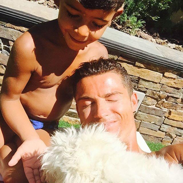 Cristiano Ronaldo filho cachorro