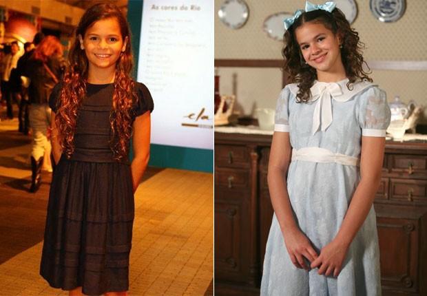 Luana Marquezine: parecida com Bruna (na foto, em 2007) quando a atriz era mais nova (Foto: AgNews e TV Globo)