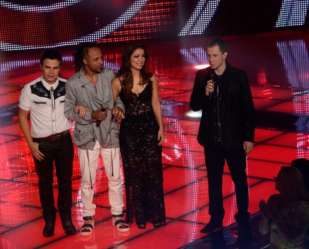 Danilo, Junior e Liah (Foto: The Voice Brasil / Tv Globo)