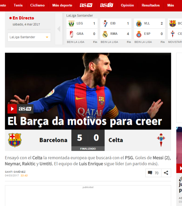 as sobre goleada do barcelona