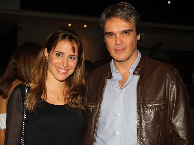 Dalton Vigh com a mulher, Camila Czerkes, em evento em São Paulo (Foto: Thiago Duran/ Ag. News)
