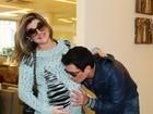 Mirella Santos vai para a maternidade, em São Paulo