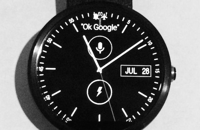Tocando na tela do relógio para acessar as configurações (Foto: Reprodução/Edivaldo Brito)