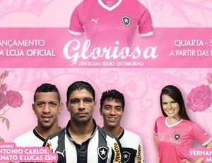 Lançamento Camisa rosa Botafogo (Foto: Pedro Padilha / BFR)