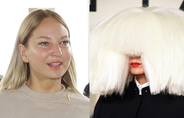 Cantora Sia raramente aparece sem a peruca (Foto: AKM-GSI  e Getty Images)