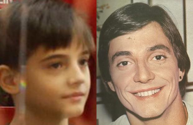 Záion, filho de Fábio Jr. e Mari Alexandre, mostra semelhança com o pai (Foto: AgNews e Reprodução)