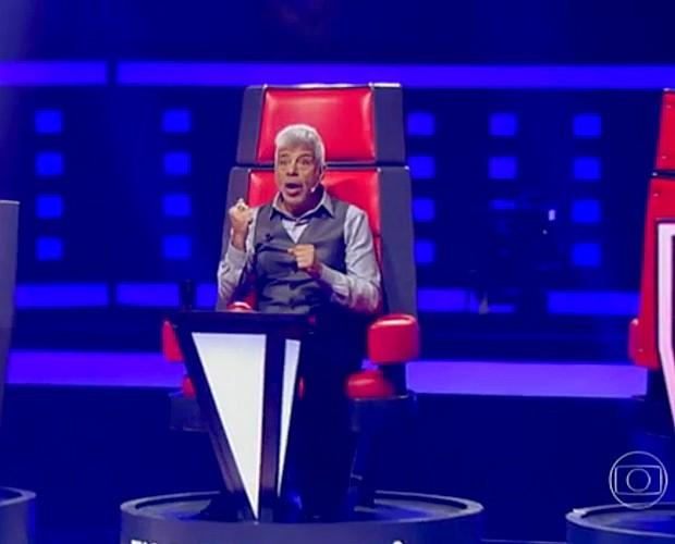 A reação de Lulu ao se deparar com Deena Love durante as Audições (Foto: Isabella Pinheiro / Tv Globo)