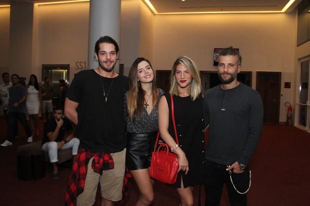 Gian Luca,  Giovanna Lancellotti, Giovanna Ewbank e Bruno Gagliasso (Foto: Thyago Andrade- Brazilnews)