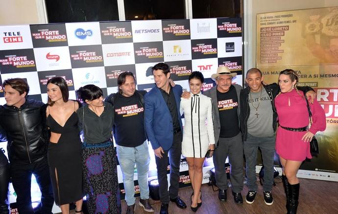 Lançamento do filme de José Aldo (Foto: André Durão)