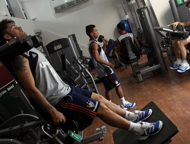 fluminense treino academia (Foto: Nelson Perez / FluminenseFC)