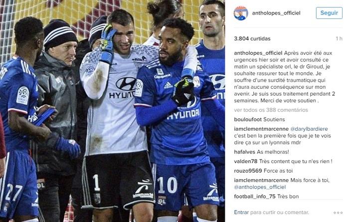 Lopes tranquiliza fãs nas redes sociais (Foto: Reprodução / Internet)