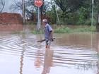 Chuva forte volta a alagar ruas e água invade casas em bairro de Catanduva